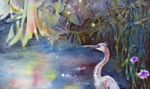 Colorful Heron (sold)