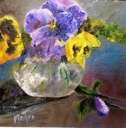 Pansies for Mama (sold)