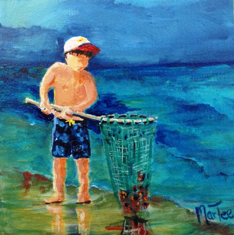 Boy With Crab Net