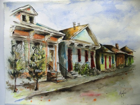New Orleans Houses Series (Sold)