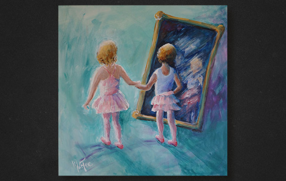 BFF Ballerinas in a Looking Glass