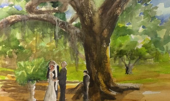 Wedding in City Park